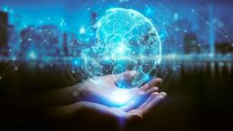 Business Process Outsourcing global hologram in händen
